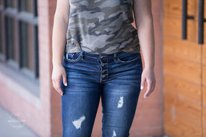 RESTOCKED Get Your Shine On KanCan Distressed Jeans [Button Fly]