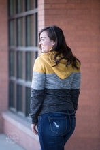 Load image into Gallery viewer, Cozy Nights Colorblock Jacket [Mustard]