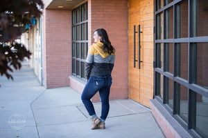 Cozy Nights Colorblock Jacket [Mustard]