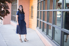 Load image into Gallery viewer, Nowhere I'd Rather Be Pocket Dress [Solid Navy]