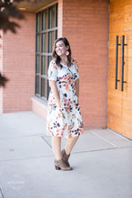 Load image into Gallery viewer, Snack Pocket Dress [Ivory & Coral Floral]