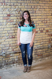 Take My Hand Colorblock Top [Mint]