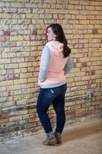 Load image into Gallery viewer, Quilted Double Hoodie Top [Peach Pink]
