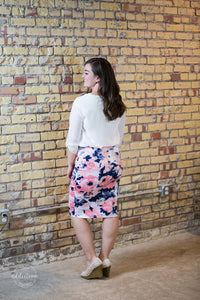 Dress For Success Pencil Skirt [Blush Floral]