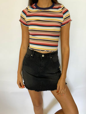Bella High Waisted Denim Skirt