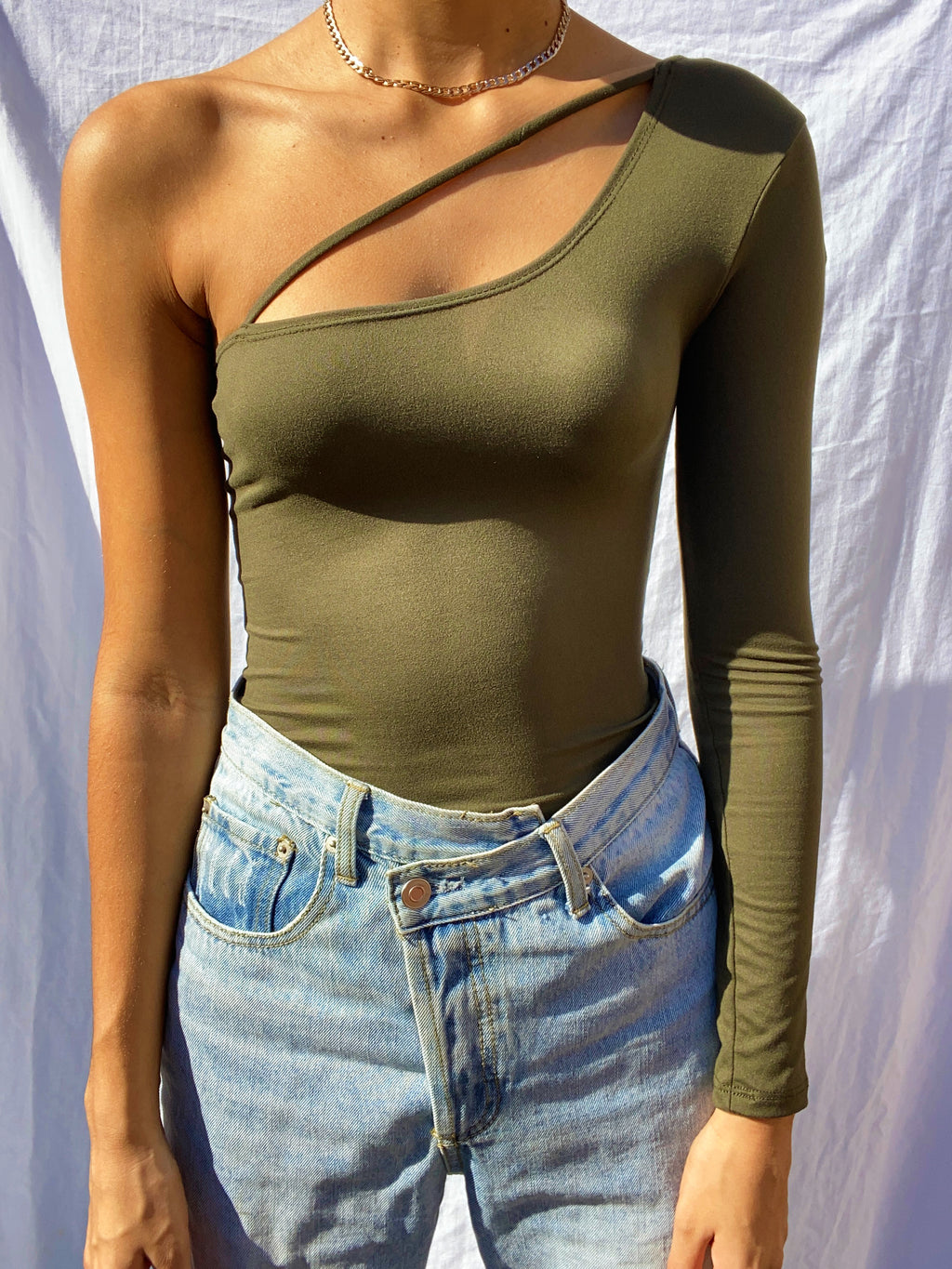 Miyah One Shoulder Strap Bodysuit