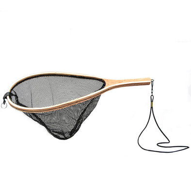 TEARDROP WOODEN BLACK MESH NET