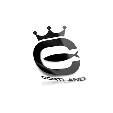 Cortland Logo Boat/Window Die-Cut Sticker - Black