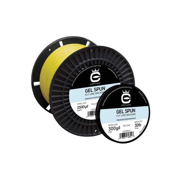 GEL SPUN FLY LINE BACKING - YELLOW