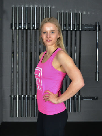 Womens DW2 Racer Back Vest - plain - Pink