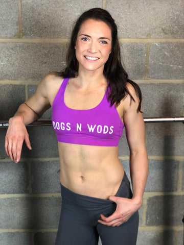 Dogs n Wods RX Sports Bra Purple