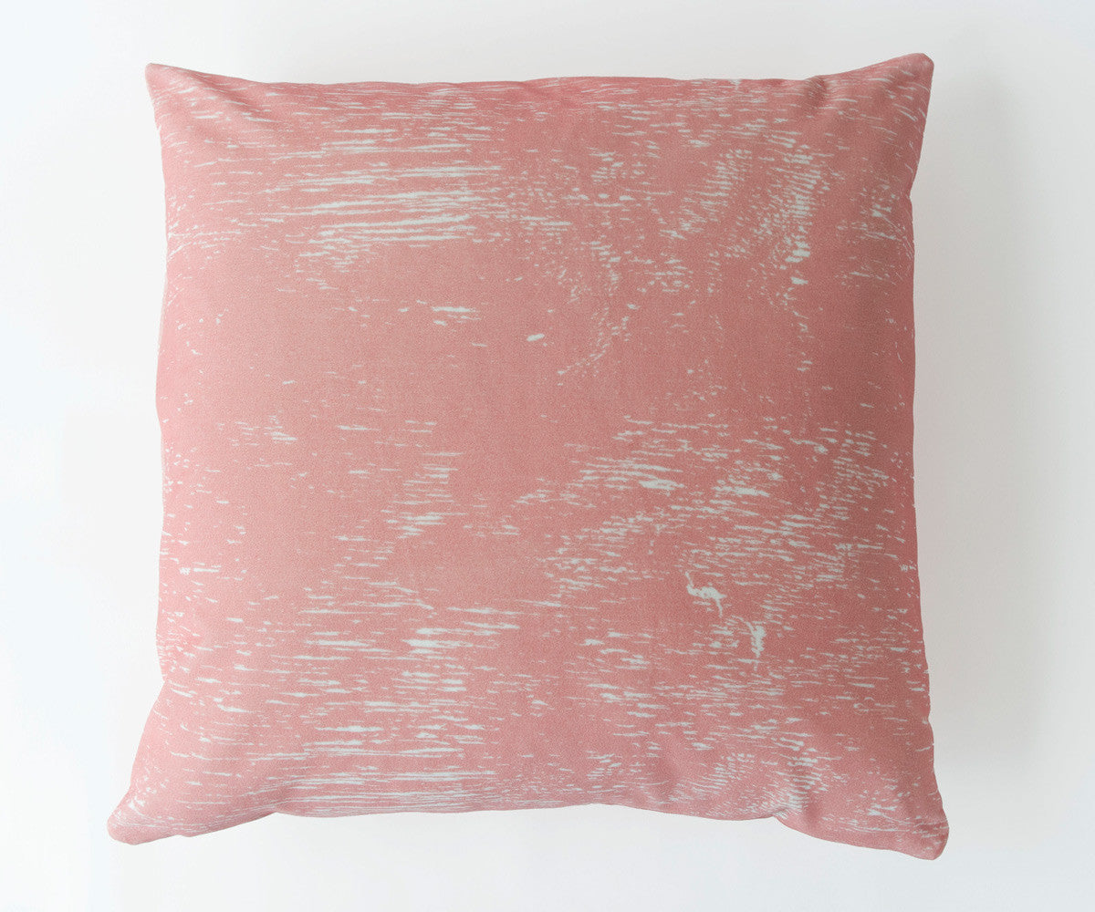 Wood Grain Study Pillow in Vintage Pink