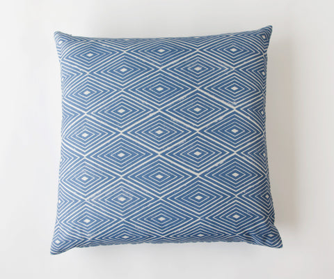 Diamond Print Pillow in Iris