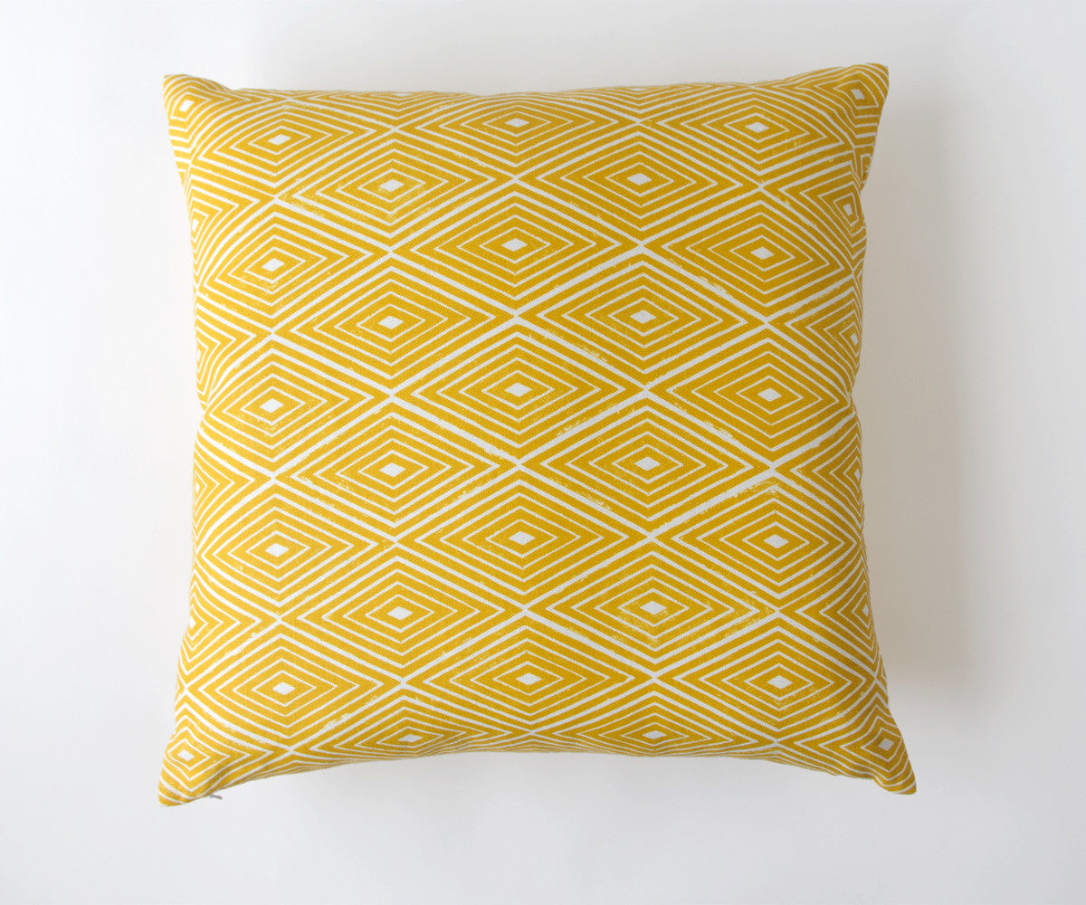 Diamond Print Pillow in Turmeric