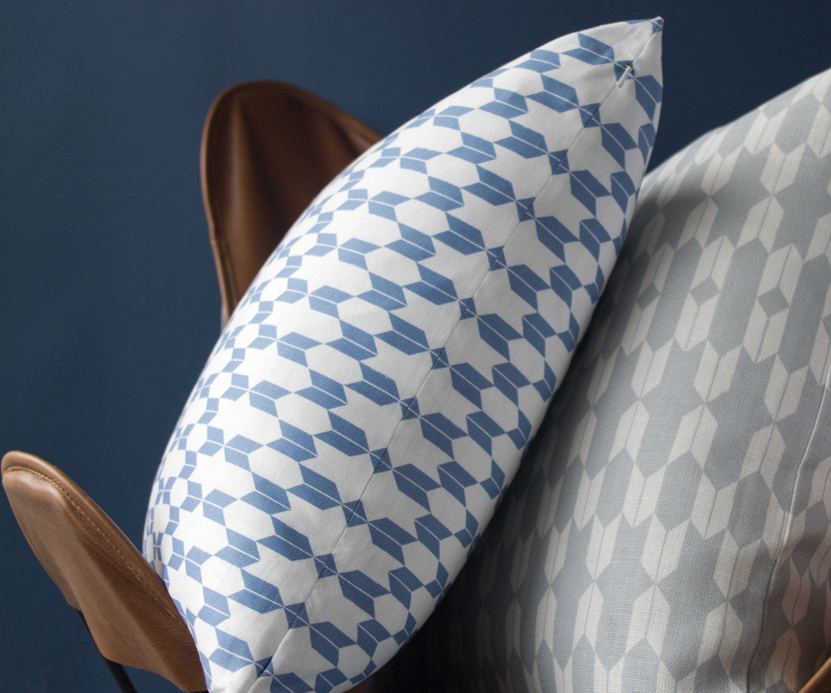 Endless Arrows Printed Pillow in Iris