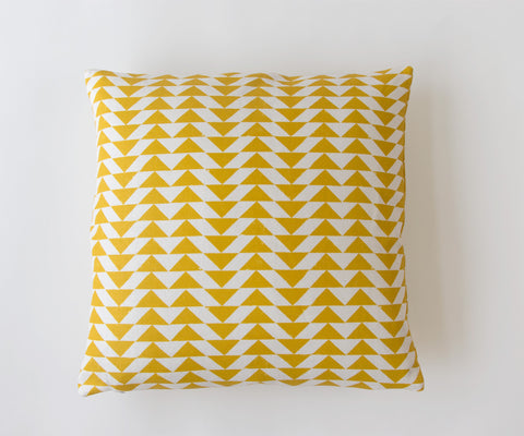 Eye Dazzler Print Pillow in Turmeric