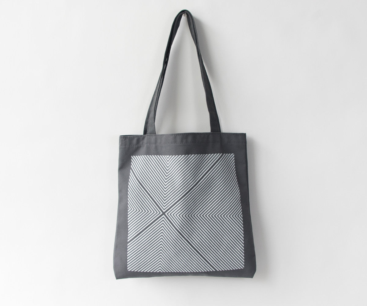 Four Corners Hand screen printed geometric tote