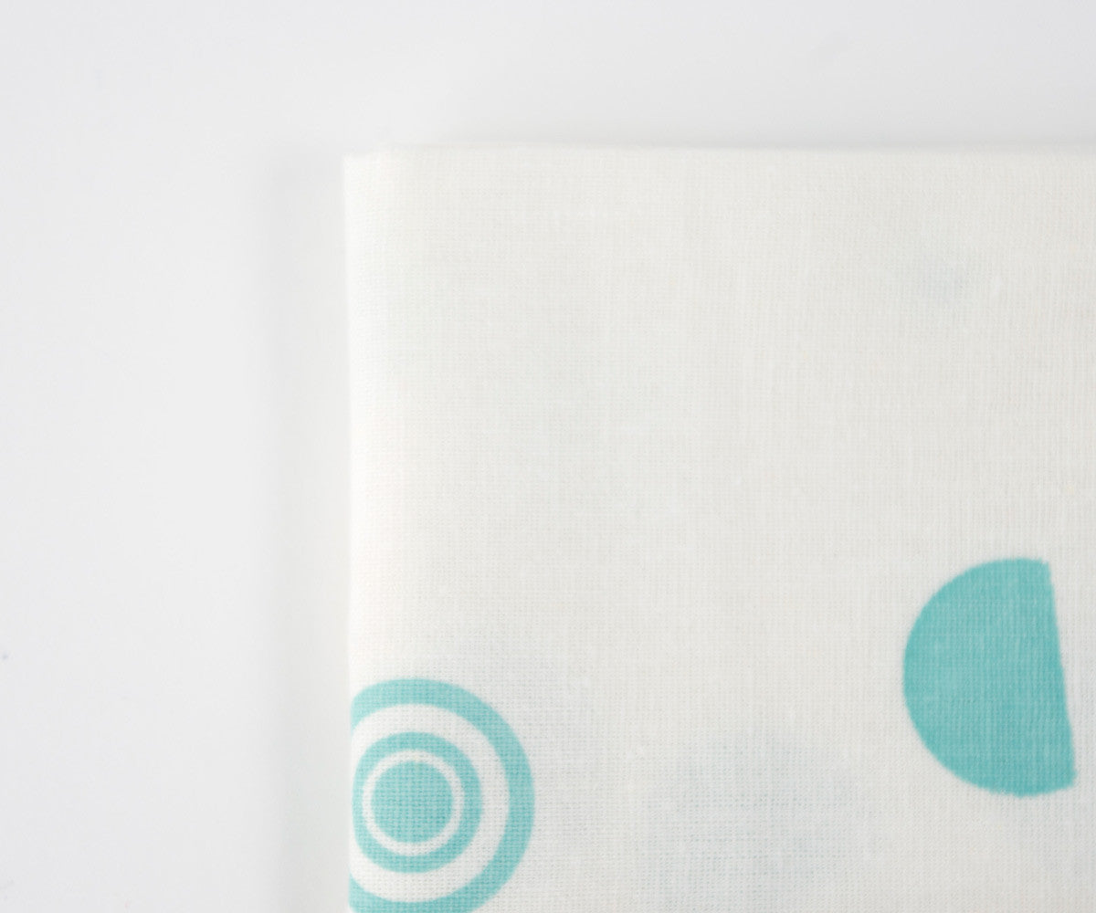 Confetti Drop Teal Towel in Mint Detail