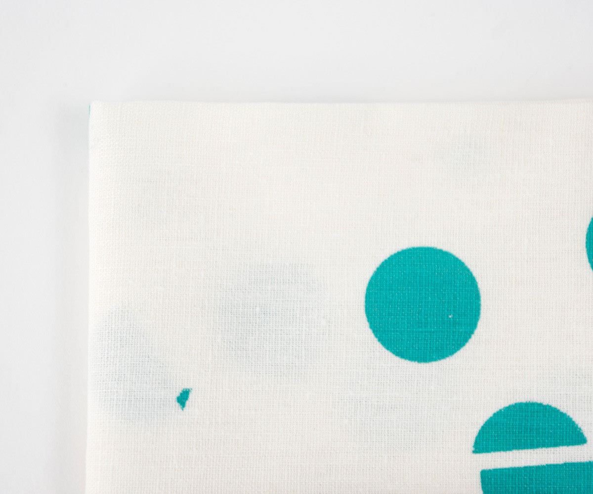 Confetti Drop Teal Towel in Teal Detail