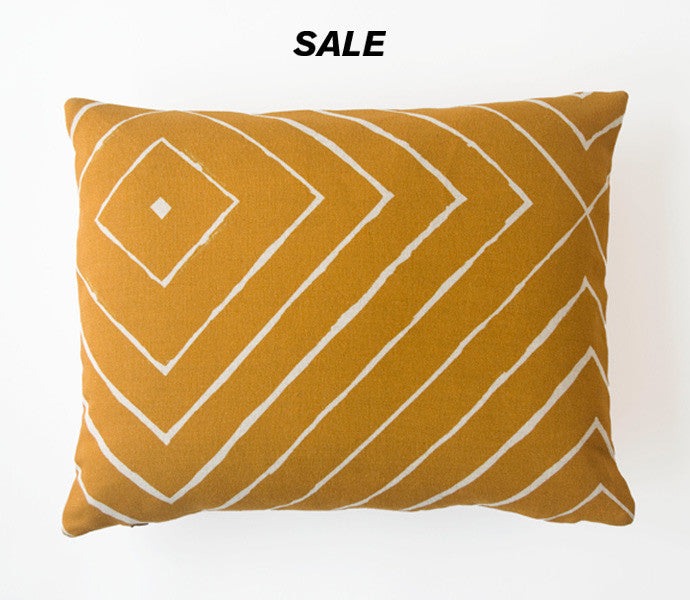 Dot Block Print Pillow