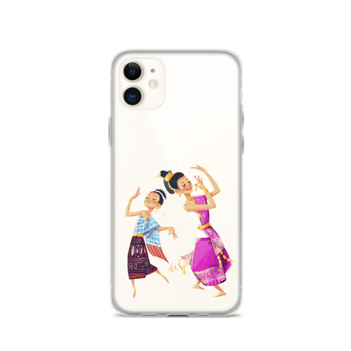Lao Traditional Dancers iPhone Case