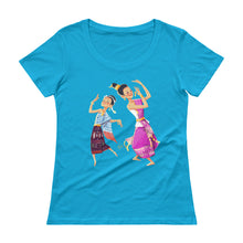 Load image into Gallery viewer, Lao Traditional Dancers Scoopneck T-Shirt