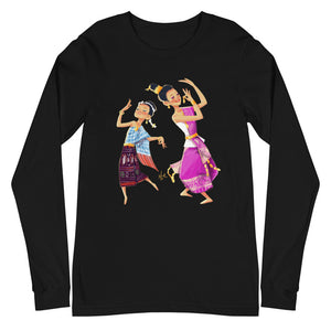 Lao Traditional Dancers Long Sleeve T-Shirt