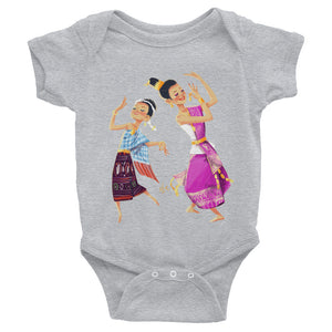 Lao Traditional Dancers Bodysuit for Babies