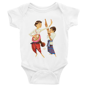 Infant Bodysuit of Lao Musicians