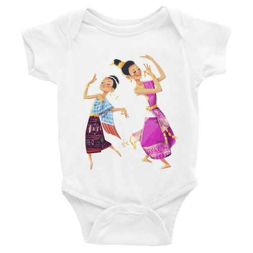Infant Bodysuit of Lao Girls Dancing