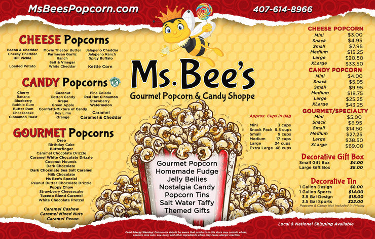 Ms Bee S Gourmet Popcorn And Candy Store Orlando Florida