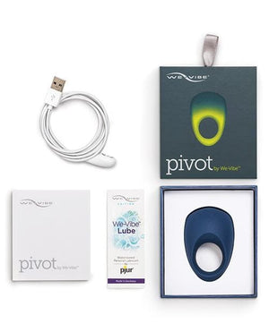 We-vibe Pivot Premium Vibrating Cock Ring- Blue