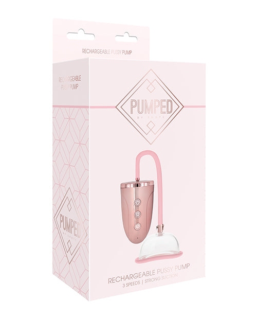 Shots Pumped Automatic Rechargeable Pussy Pump Set - Rose Gold