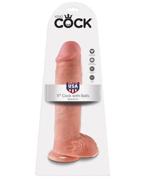 "King Cock 11"" Cock W/Balls"