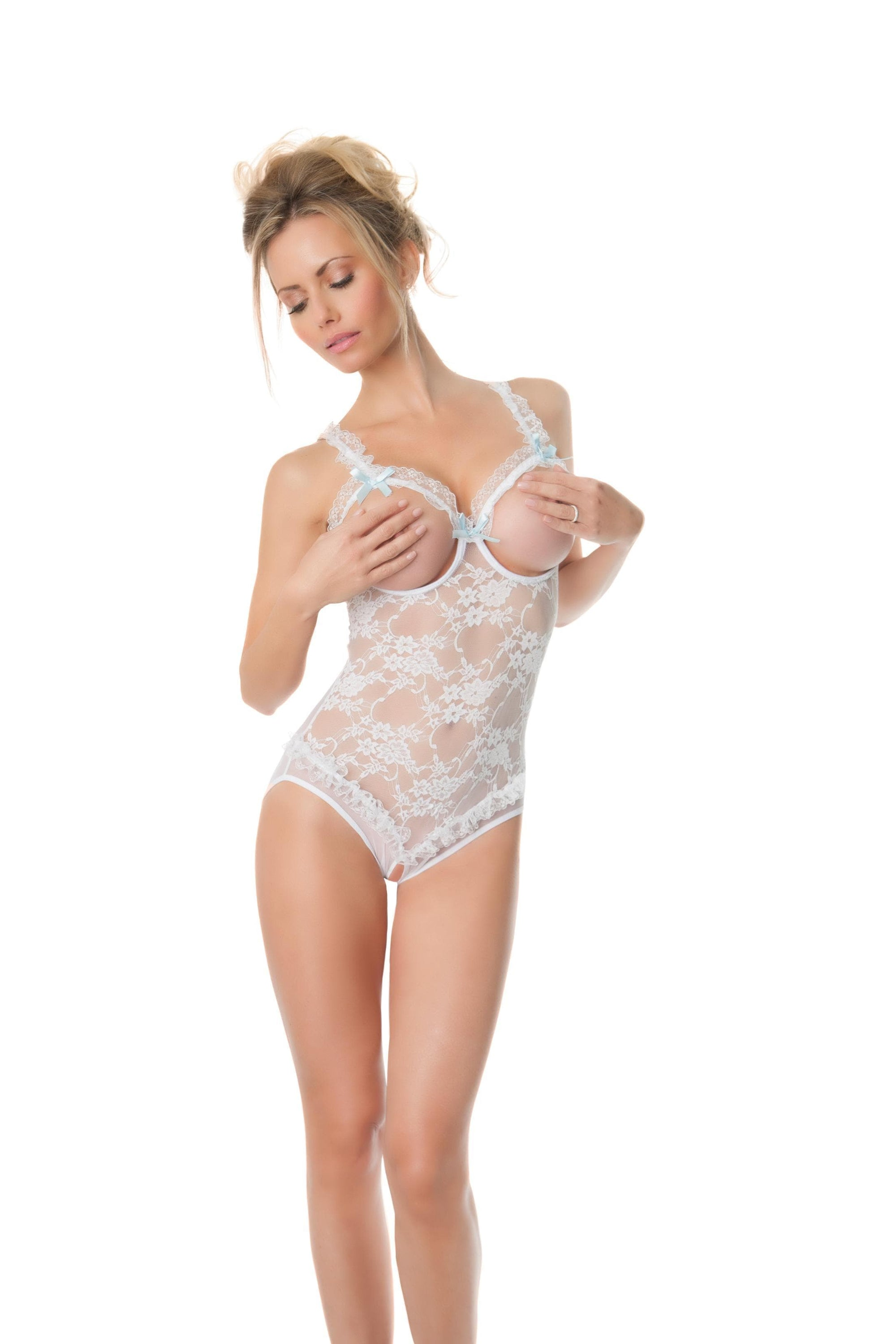 Lace Open Cup & Crotchless