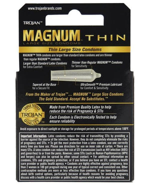 Trojan Magnum Thin Condoms - Med - 3 & 12 Packs