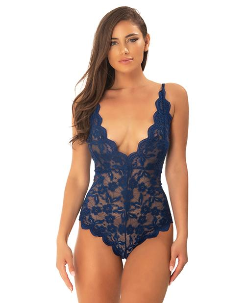 Cortney Floral Lace Romper Estate