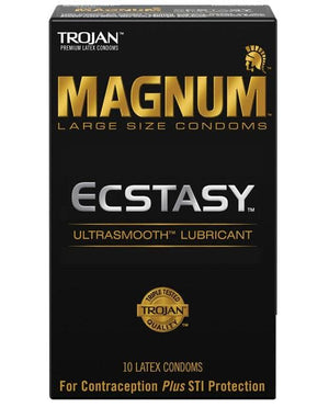 Trojan Magnum Ecstasy Condoms - Large - 3 & 12 Packs