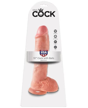 "King Cock 10"" Cock W/Balls"