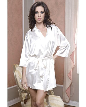 Satin 3/4 Sleeve Robe w/Matching Sash