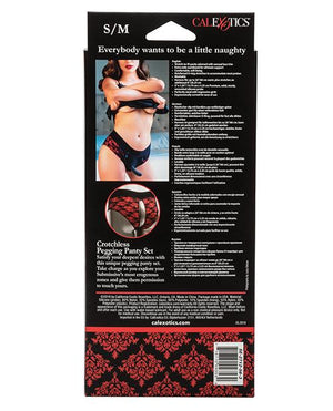 Scandal Crotchless Pegging Panty Set