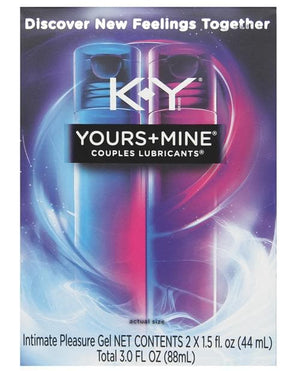 KY Yours & Mine Gift Set Premium Lubricants for Him & Her