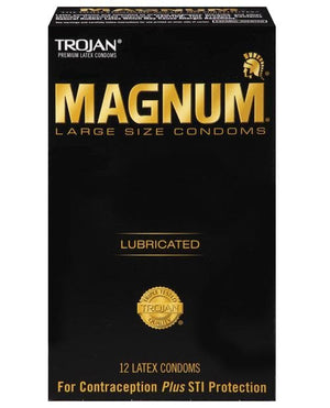 Trojan Magnum Condoms - Large - 12 Pack