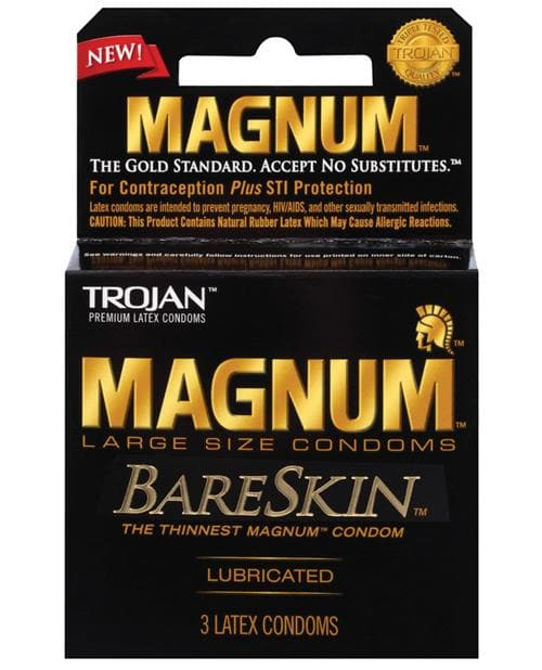 Trojan Magnum Bareskin Condoms - Large - 3 & 12 Packs