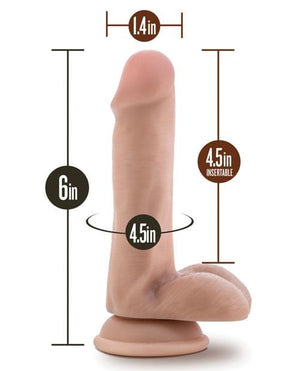 "Blush Silicone Willy's 6"" Dildo W/Balls & Suction Cup"