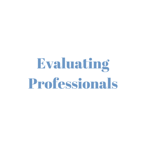 Evaluating Professionals