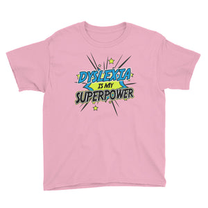 Youth Dyslexia Is My Superpower Short Sleeve T-Shirt