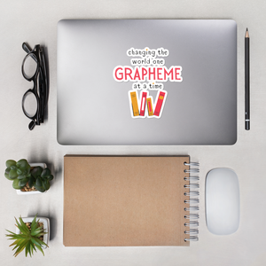 One Grapheme Bubble-free stickers
