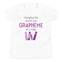 Load image into Gallery viewer, Youth Grapheme Purple Short Sleeve T-Shirt