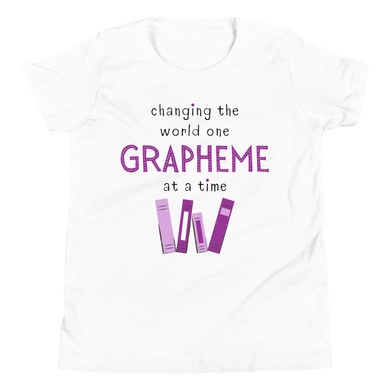 Youth Grapheme Purple Short Sleeve T-Shirt